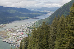 Juneau viewed from Mount Roberts Stock Images