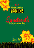 Juneteenth, African-American Independence Day, June 19. Day of Freedom and Emancipation Royalty Free Stock Photography