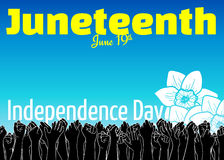 Juneteenth, African-American Independence Day, June 19. Day of Freedom and Emancipation Royalty Free Stock Image