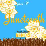Juneteenth, African-American Independence Day, June 19. Day of Freedom and Emancipation Stock Photography