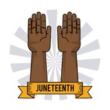 Juneteenth day slavery humanitarian symbol. Vector illustration Royalty Free Stock Images