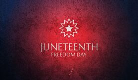 Free Juneteenth Freedom Day With Grunge Rusty Iron Texture. June 19, 1865. Stock Image - 221516491