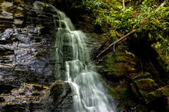 Juney whank water falls in great smoky mountains Stock Photography