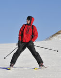 Jung boy on the Ski Stock Photography