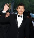 Jung Ji-Hoon, chuva do aka Imagens de Stock Royalty Free
