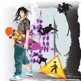 jung - skateboardist Lizenzfreies Stockbild