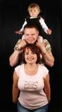 Junge addorable Familie Stockfotografie