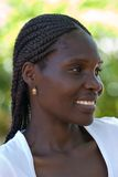 Junge afrikanische Frau stockbild