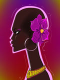 Junge afrikanische Frau vektor abbildung