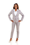 Junge afrikanische Geschäftsfrau stockfoto
