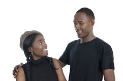 Junge afrikanische Paare Lizenzfreie Stockfotografie