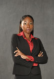 Junge Afroamerikaner-Geschäftsfrau Lizenzfreie Stockbilder
