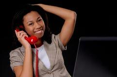 Junge Afroamerikaner-Geschäftsfrau Stockbild