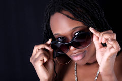 Junge afroe-amerikanisch Frau Lizenzfreies Stockfoto