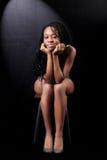 Junge afroe-amerikanisch Frau Lizenzfreies Stockbild