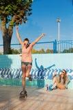 Junge aktive Frauen Stockfotos