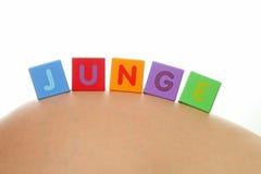 JUNGE (alemão para o menino) Imagens de Stock