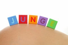 JUNGE (allemand pour le garçon) Images stock