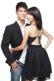 Junge, asiatische, chinesische Paare auf romantischem Datum Lizenzfreie Stockfotos