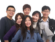 Junge asiatische Gruppe Lizenzfreie Stockfotos