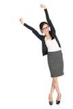 Junge asiatische weibliche Arme Fullbody angehoben Stockbild