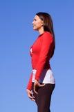 Junge athletische Frau Stockfotografie