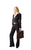 junge attraktive blonde Geschäftsfrau Lizenzfreie Stockbilder