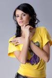 Junge attraktive Frau lizenzfreie stockbilder