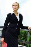 Junge attraktive Geschäftsfrau Stockbild
