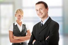 Junge attraktive Geschäftsleute Stockbilder