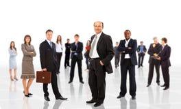 Junge attraktive Geschäftsleute Lizenzfreies Stockfoto