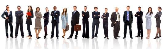 Junge attraktive Geschäftsleute lizenzfreie stockbilder