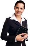 Junge attraktive Geschäftsfrau. Lizenzfreies Stockbild