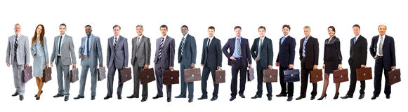 Junge attraktive Geschäftsleute Lizenzfreie Stockfotografie