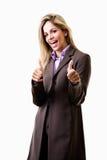 Junge attraktive kaukasische blonde Geschäftsfrau Stockfotos