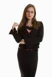 Junge attraktive kaukasische blonde Geschäftsfrau Lizenzfreie Stockfotos