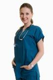 Junge attraktive kaukasische Gesundheitspflegearbeitskraft Stockbilder