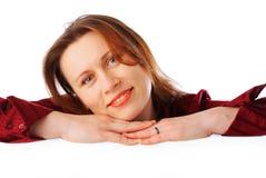 Junge attraktive lächelnde Geschäftsfrau Stockfoto