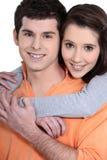 Junge attraktive Paare Stockfoto