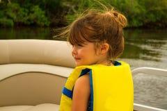 Junge auf Boot Lizenzfreies Stockfoto