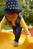 Junge auf dem Spielplatzdia Lizenzfreie Stockfotografie