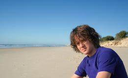 Junge auf dem Strand 2 Stockfotografie