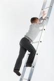 Junge auf den Treppen Lizenzfreies Stockfoto