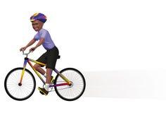 Junge auf einem Fahrrad lizenzfreie abbildung