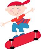 Junge auf einem Skateboard Lizenzfreies Stockfoto