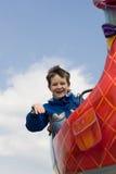 Junge auf einer Fahrt Lizenzfreies Stockfoto