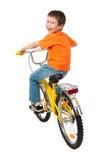Junge auf Fahrrad Stockbild