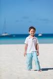 Junge auf Ferien Stockbilder