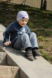 Junge auf Jobstepps Stockfoto