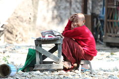 Junge auf Myanmar Stockfotografie
